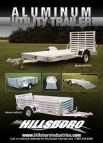 Aluminum Utility Trailer One Piece Ramp Hillsboro Trailers And Truckbeds Hillsboro