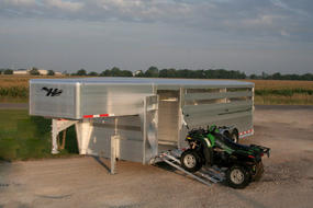Aluminum Stock Trailer with ATV